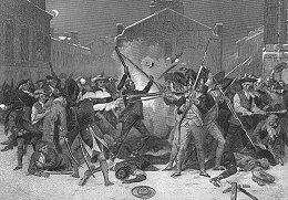 Drawing of the Boston Massacre
